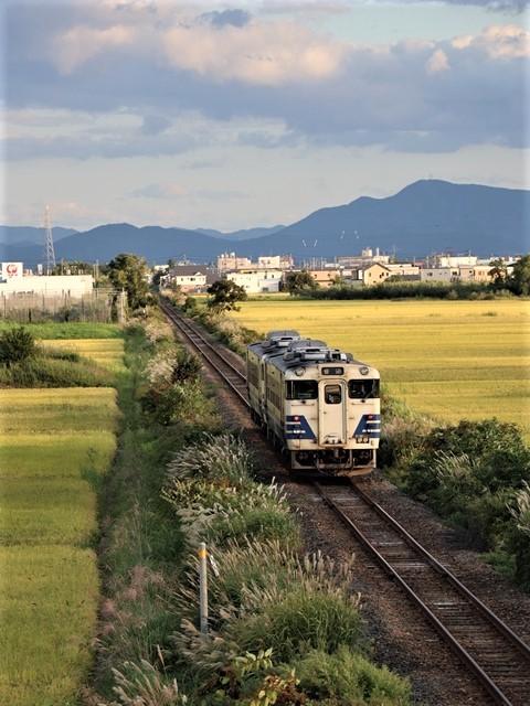 藤田八束の鉄道写真@秋深まる素敵な五能線、ローカル列車から若者たちの声が聞こえてくる_d0181492_22391126.jpg