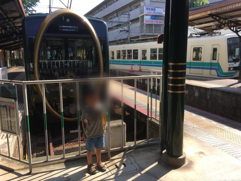 出町柳駅にて叡山電車『ひえい』と 『メープルグリーンきらら』を見る!  *夏休み京都鉄道旅⑦*_d0367998_10543520.jpeg
