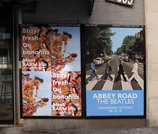NYの街角で見かけたビートルズ『アビイ・ロード』(Abbey Road)50周年アニバーサリー版のポスター_b0007805_04395797.jpg