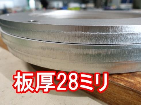 28ミリのステンレスレーザー切断_d0085634_16014601.jpg