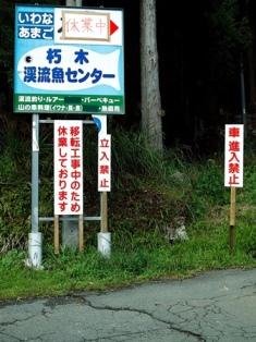 針畑川は、来春まで禁漁・・・天然マイタケ_d0005250_19433252.jpg