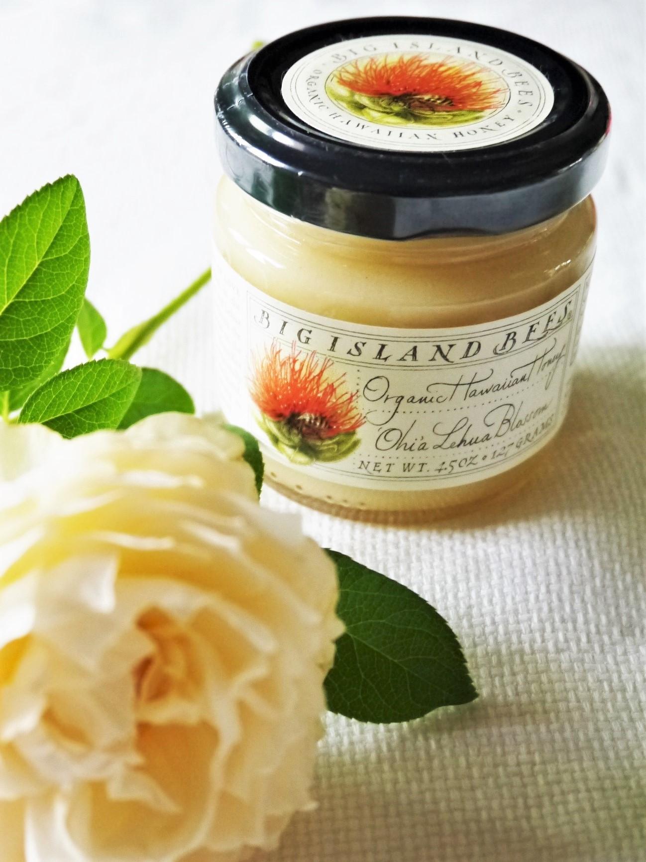 レフア蜂蜜と白いイングリッシュローズ_a0147281_16584618.jpg