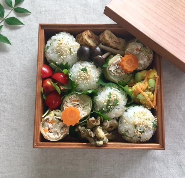 lunch box  和風ロールキャベツを母へ_a0165160_16593356.jpg