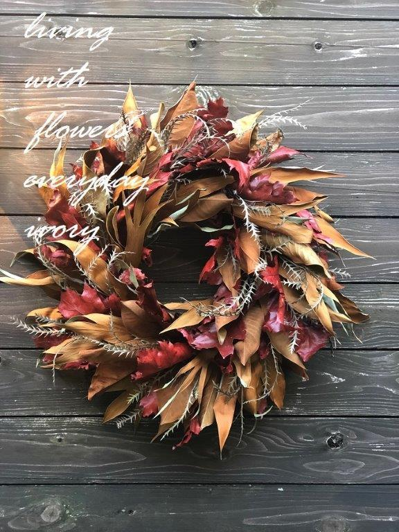 """リーフのみの\""""wreathe\""""_b0094378_15000722.jpeg"""