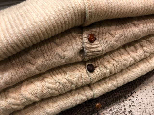 10月5日(土)大阪店、冬物スーペリア入荷!!#3 Fisherman Knit編! Shawl Cardigan & Zip Cardigan!!_c0078587_14184767.jpg