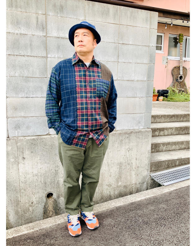 【BOHEMIANS】MIX CHECK LS SHIRT_d0000298_16250431.jpg