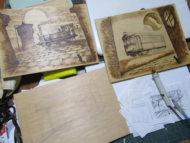 「表現としての鉄道」工房にて、 トレインアート制作風景_f0227828_19342361.jpg