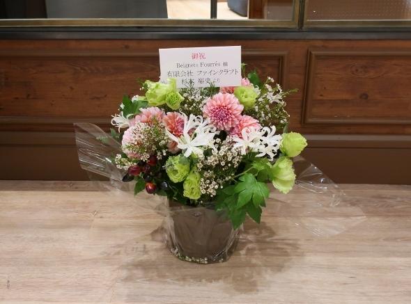ベニエフレェ店にお祝いのお花をいただきました。_c0227633_23002409.jpg