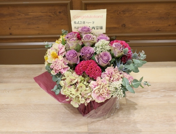 ベニエフレェ店にお祝いのお花をいただきました。_c0227633_23004429.jpg
