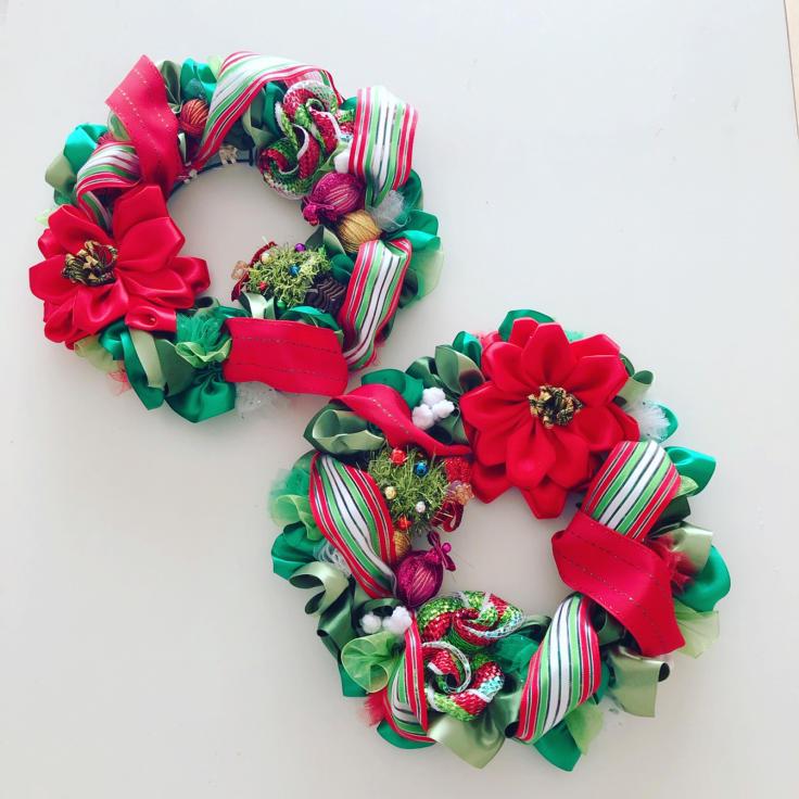 Christmas Wonderland mini wreath🎄_f0017548_13133628.jpg