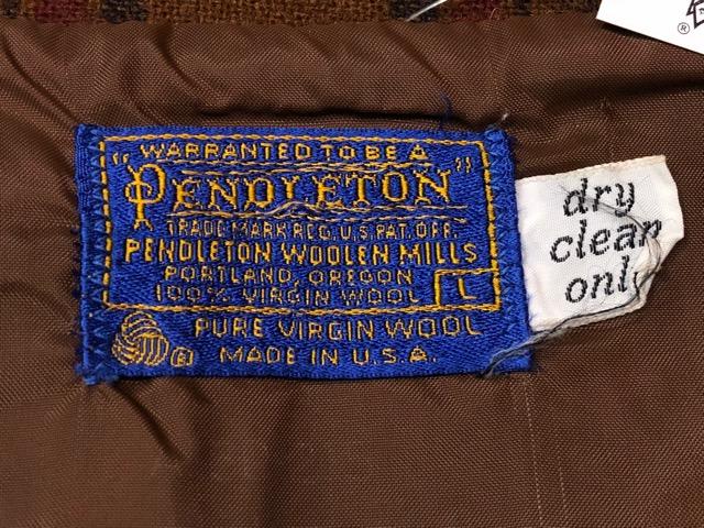 10月5日(土)大阪店、冬物スーペリア入荷!!#7 Pendleton編! TweedJKT & HuntingJKT ,WoolPlaidShirt!!_c0078587_15571611.jpg