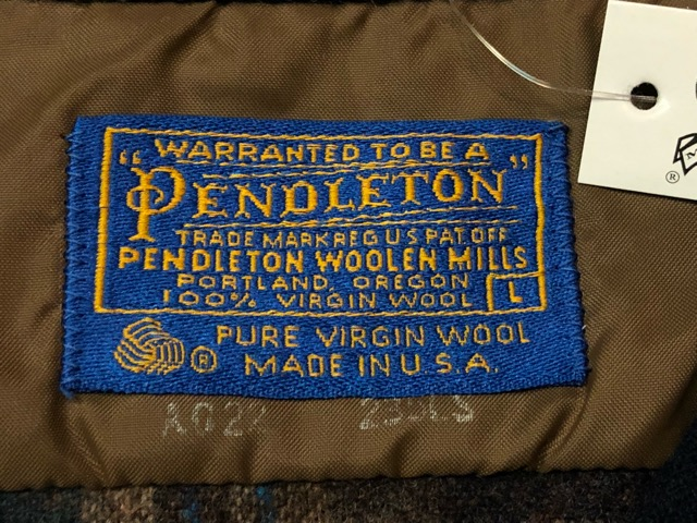 10月5日(土)大阪店、冬物スーペリア入荷!!#7 Pendleton編! TweedJKT & HuntingJKT ,WoolPlaidShirt!!_c0078587_1612827.jpg