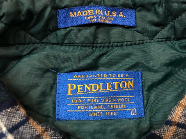 10月5日(土)大阪店、冬物スーペリア入荷!!#7 Pendleton編! TweedJKT & HuntingJKT ,WoolPlaidShirt!!_c0078587_16155183.jpg