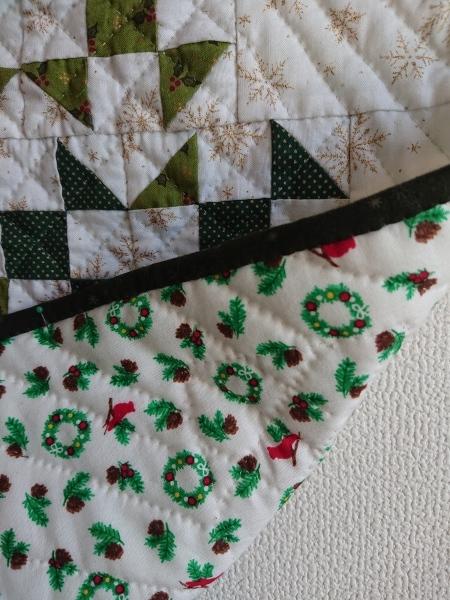クリスマスツリーのミニタペストリー  2_a0122205_10321289.jpg