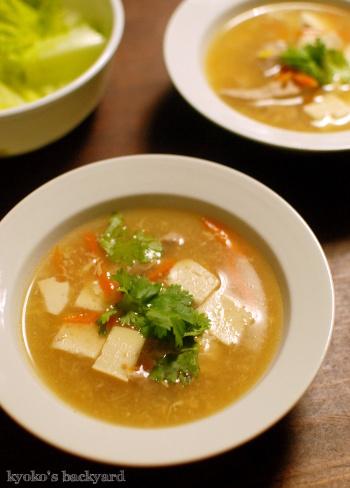 キャベツとツナのピリ辛炒め。酸辣湯風スープ_b0253205_06330392.jpg