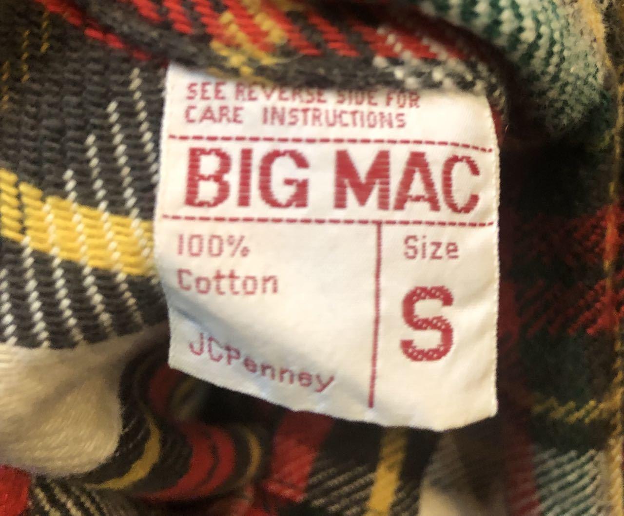10/5(土)入荷!70s BIG MAC ネルシャツ サイズS _c0144020_16495263.jpg