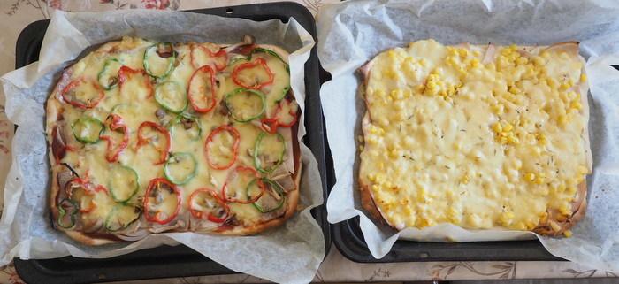 白神こだま酵母のピザ2種_c0116915_23100521.jpg
