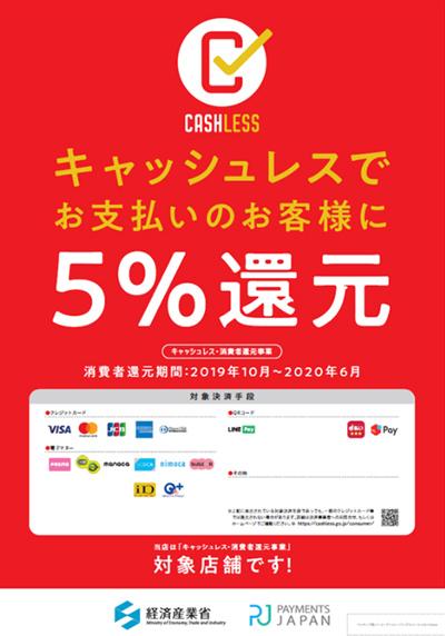 金栄堂はキャッシュレス ポイント還元事業加盟店・5%対象店舗です!_c0003493_12154789.jpg