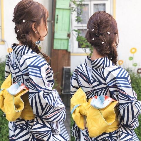 二子玉川花火 浴衣の着付け_a0123703_10200613.jpeg