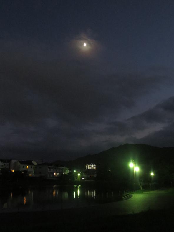 ■「夕日の寸秒は幸なるかな」、そして月も出てくる週替わりの夕暮れ[10/2-6]_d0190217_22141225.jpg