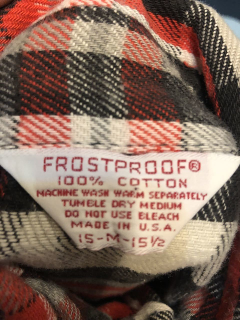 10/6(日)入荷!80s MADE IN U.S.A FROST PROOF ヘビーネルシャツ!_c0144020_14133649.jpg