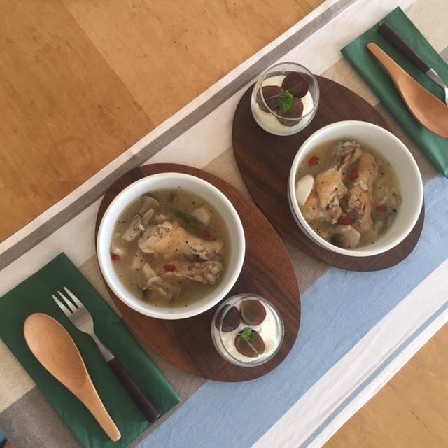 weekend  参鶏湯風スープで♪_a0165160_20541216.jpg