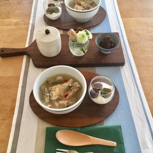 weekend  参鶏湯風スープで♪_a0165160_21013988.jpg