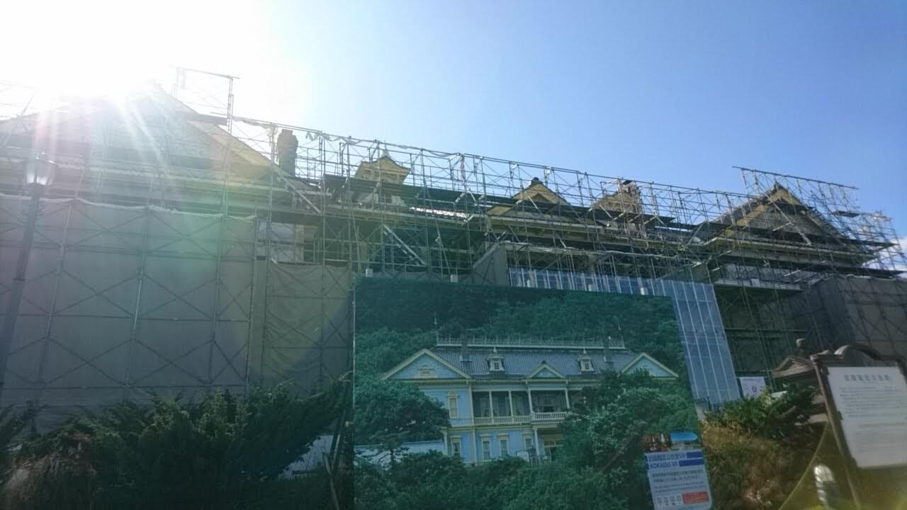 改修工事中の旧函館区公会堂_b0106766_18560866.jpg