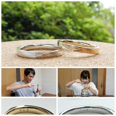 年輪をデザインした結婚指輪 オーダーメイド | 岡山_d0237570_11095896.jpg