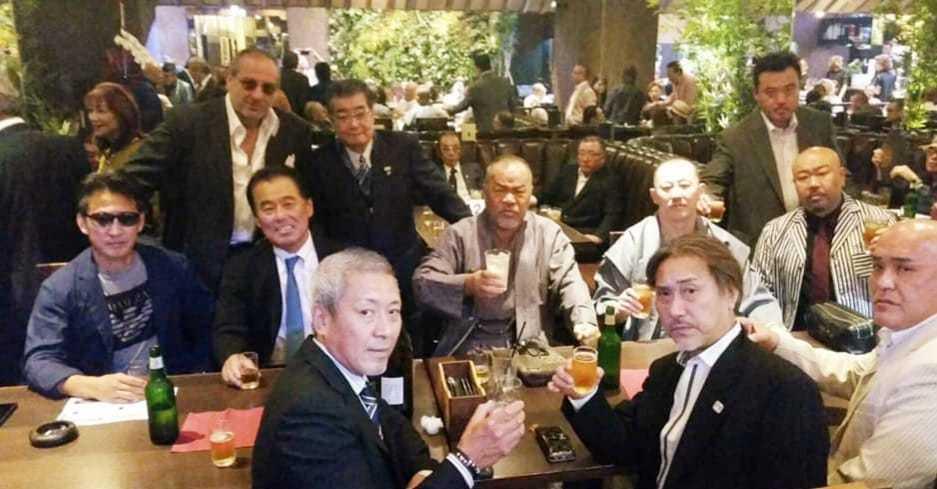 任侠Vシネマの脚本、監督をされ遂に163本の日本記録達成の村上和彦先生(西条高校OB)の75歳の誕生パーティーに出席。<_c0186691_17025349.jpg