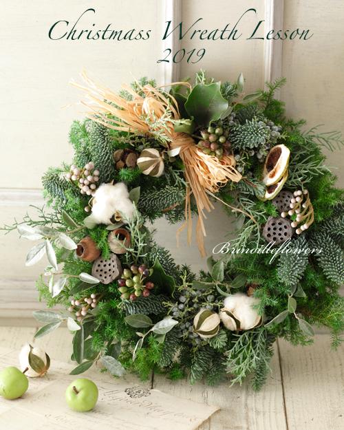 クリスマスリース&スワッグレッスン2019*今年も開催します♪_b0138802_00471364.jpg