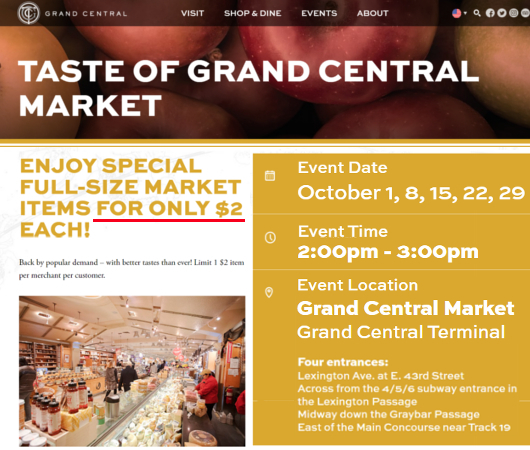 NYで『グラセン・マーケットの2ドル食』(Taste of Grand Central Market)開催中_b0007805_09203342.jpg