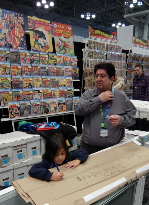 NYCC2019、コミック本ブース内で絵を描く少女に遭遇_b0007805_10375821.jpg
