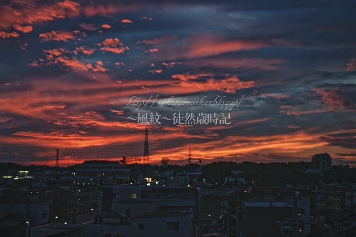夕闇迫る秋空。_f0235723_19053424.jpg