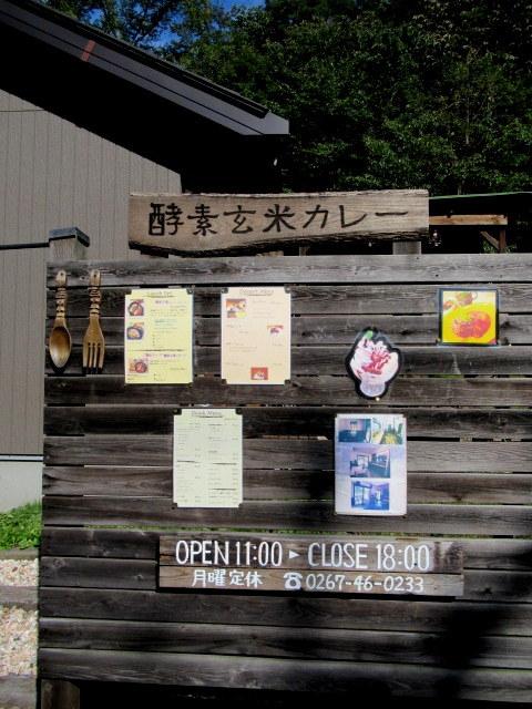 Cafe「f」フォルテ 軽井沢 * 酵素玄米カレーのランチセット♪_f0236260_17310066.jpg