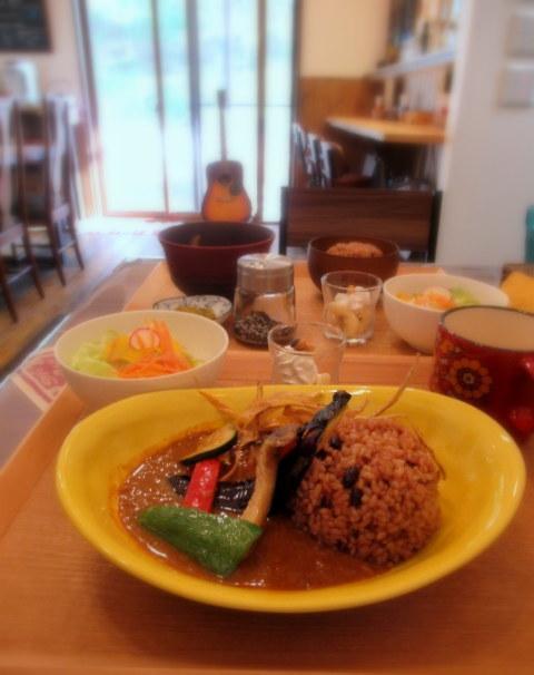 Cafe「f」フォルテ 軽井沢 * 酵素玄米カレーのランチセット♪_f0236260_17481738.jpg