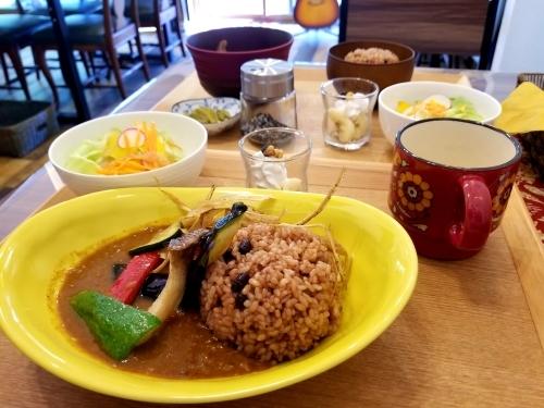 Cafe「f」フォルテ 軽井沢 * 酵素玄米カレーのランチセット♪_f0236260_18373922.jpg