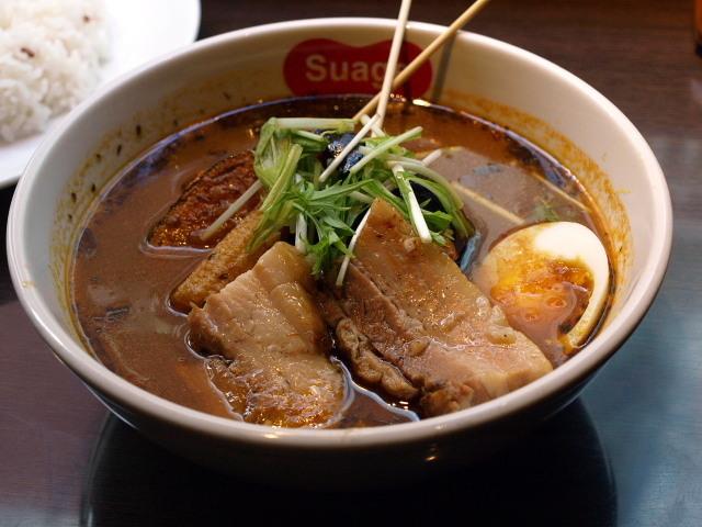 札幌 スープカレー すあげプラス その9 (ラベンダーポークの炙り角煮カレー)_d0153062_08061431.jpg