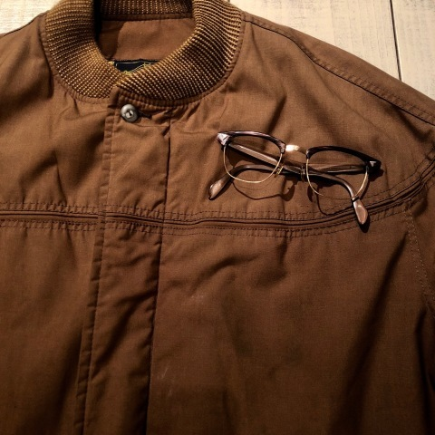 "1950-60s "" American Optical \"" -INFLUENTIAL- BROWN WOOD Vintage CELL & 12K GOLD FRAME ._d0172088_22253479.jpg"
