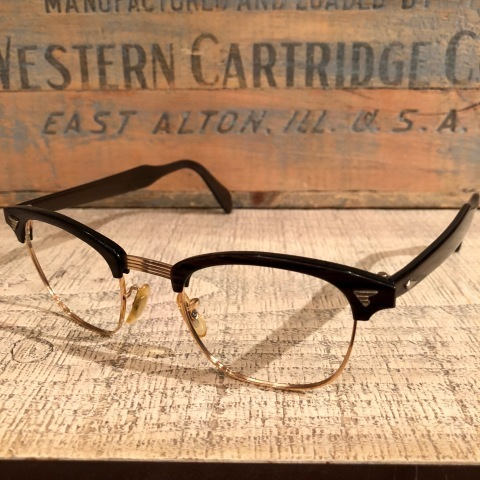 """1950-60s \"""" American Optical \"""" -INFLUENTIAL- BROWN WOOD Vintage CELL & 12K GOLD FRAME ._d0172088_23293583.jpg"""