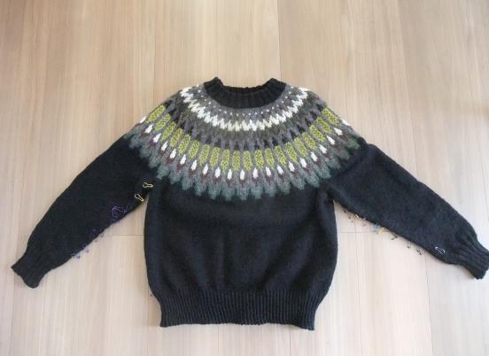 去年作り始めたセーターが完成していました。_e0031249_12350025.png