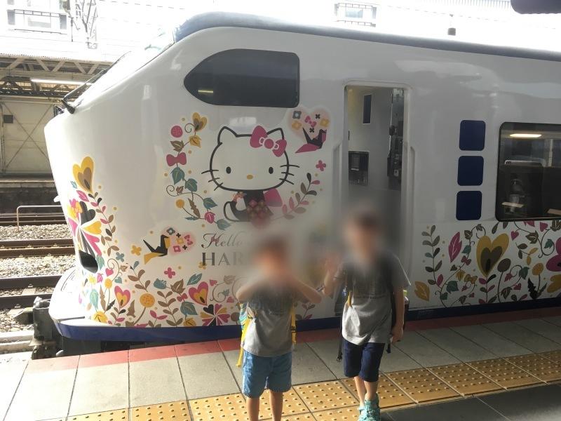 京都駅にてハローキティはるかに遭遇! *夏休み京都鉄道旅⑨*_d0367998_12120346.jpeg