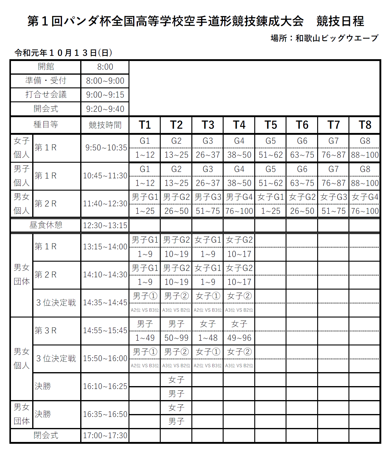 競技日程表と対戦表を掲載 第1回パンダ杯_e0238098_10370032.png