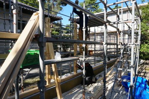 進捗状況「伝統産業工芸館塀改修工事」_d0095305_15515342.jpg