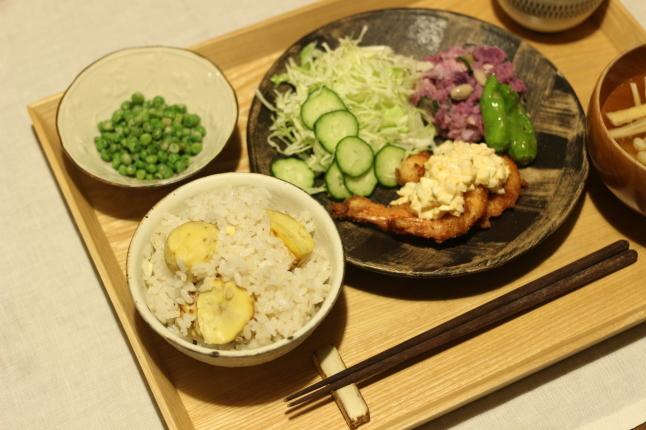 秋を味わう☆土鍋で栗ごはん_f0354014_14060608.jpg