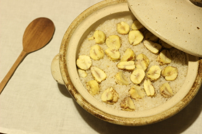 秋を味わう☆土鍋で栗ごはん_f0354014_14171073.jpg
