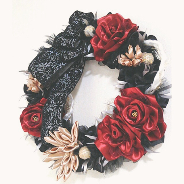 Spooky Halloween Floral Wreath_f0017548_11565335.jpg