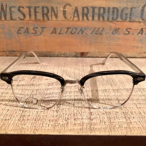 "1950s "" BAUSCH & LOMB - B & L - \"" - Charcoal WOOD × 12K White GOLD - VINTAGE SIRMONT BROW FRAME ._d0172088_17082989.jpg"