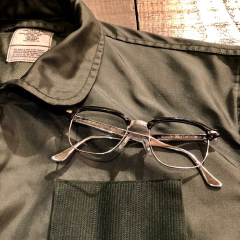"1950s "" BAUSCH & LOMB - B & L - \"" - Charcoal WOOD × 12K White GOLD - VINTAGE SIRMONT BROW FRAME ._d0172088_18214523.jpg"