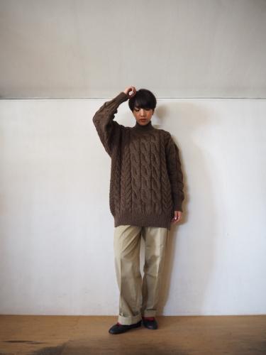 LENO Big Cable Sweater_e0357389_14463846.jpg